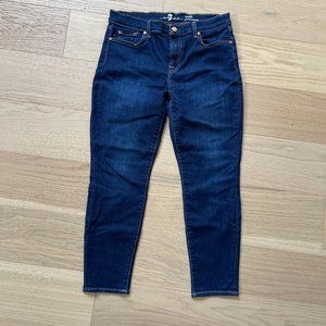 7 For All Mankind Ankle Gwenevere Jeans (Size 31, dark wash)